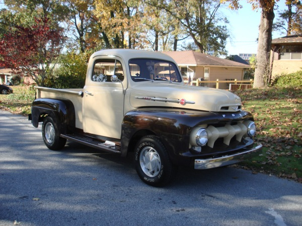 First generation Ford F-series pickup truck.