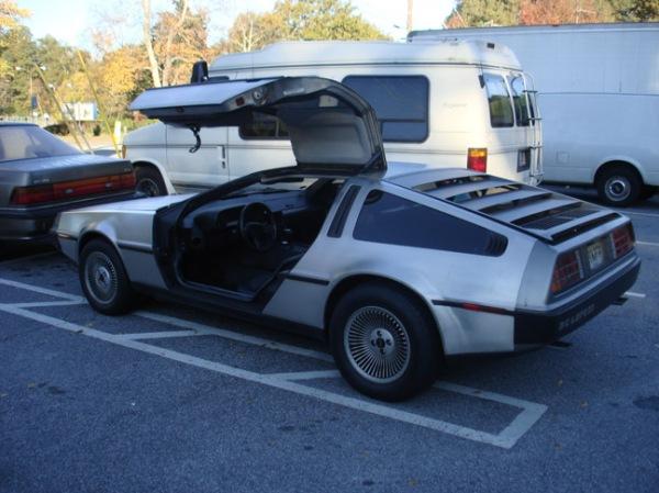 DeLorean DMC-12 with gullwing doors open