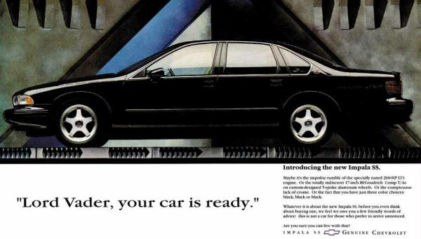 What Would Darth Vader Drive - Impala SS ad